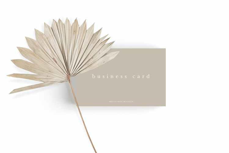 Business Card Mockup #25 84FT8WP