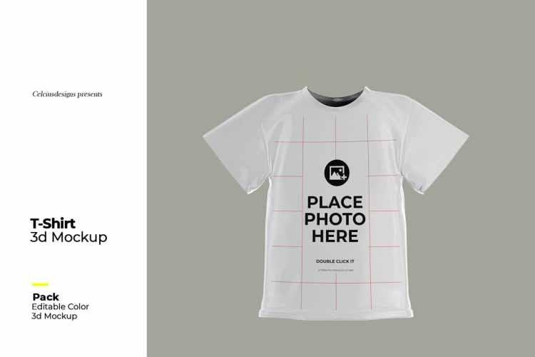 3D T-Shirt Mock Up MBFCG4R
