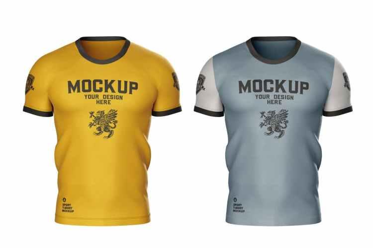 Men's Sports T-shirt Mockup PQRPBBJ