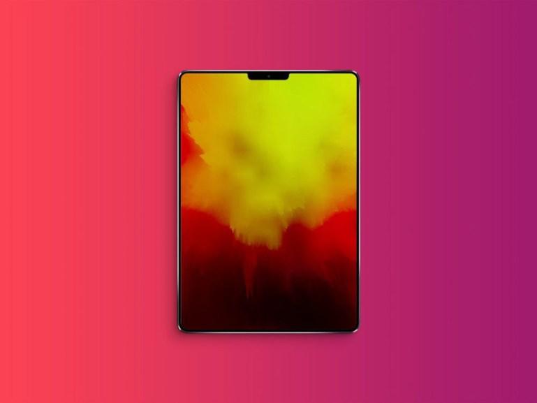 iPad (2018) with Notch Mockup