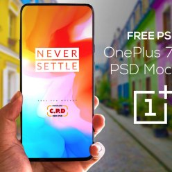 Oneplus 7 pro In Hand Mockup