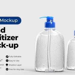 Free Hand Sanitizer Mockup