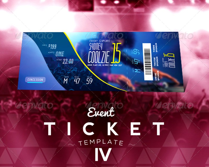 20 Best EventConcert Ticket PSD Templates