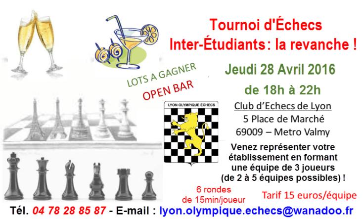 Tournoi Inter-Étudiant du jeudi 28 avril 2016