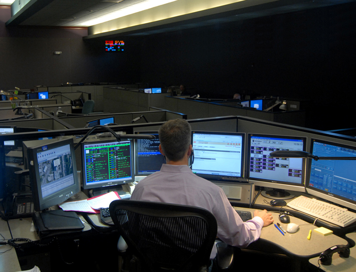 Dispatcher at communications center