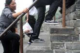 One characteristic of the steps at The Great Wall is that they aren't uniform in height. It makes it hard to get a good climbing rhythm.