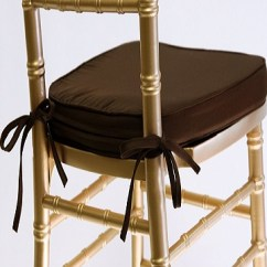 Chair Covers With Gold Sash Wooden Office Chairs On Wheels Chocolate Cotton Cushions – See Chiavari For Pricing Ps Event Rentals