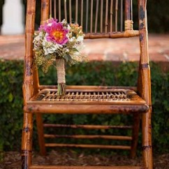 Bamboo Folding Chair Wicker Dining Room Chairs Ps Event Rentals