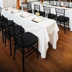 Black Round Kitchen Table And Chairs Blue Chair Ottoman White Cotton Blend – Ps Event Rentals