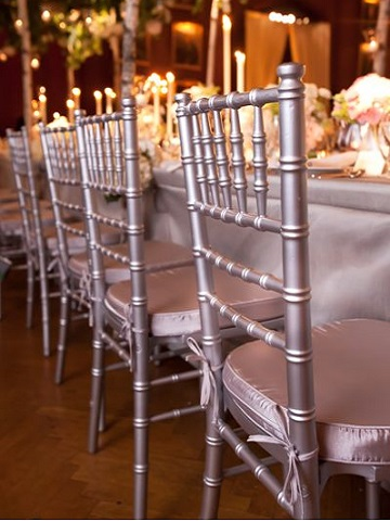 black chair covers for folding chairs pink accent silver chiavari – ps event rentals