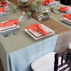 Burlap Chair Covers Ideas Motion Patio Chairs Sedona Table Runner – Ps Event Rentals