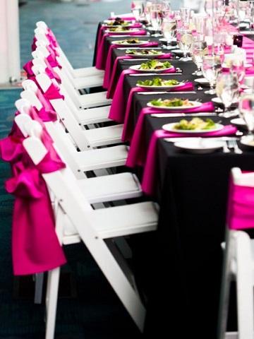 Hot Pink Matte Satin  PS Event Rentals