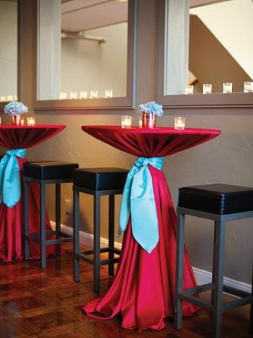 Red Poly Satin  PS Event Rentals