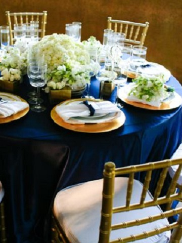 Royal Blue Poly Satin  PS Event Rentals