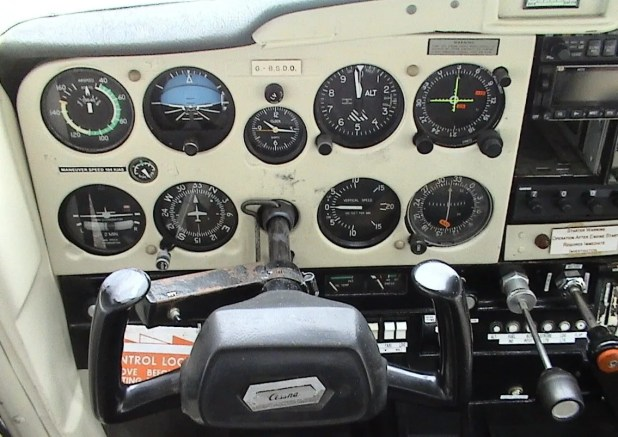 An example of a basic instrument panel I began flying with when I first became a pilot.