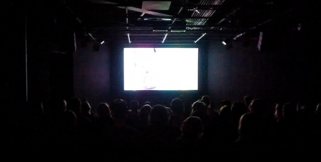 PSFN audience enjoying a film in 3S Artspace