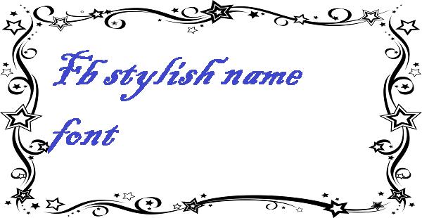 Fb stylish name font