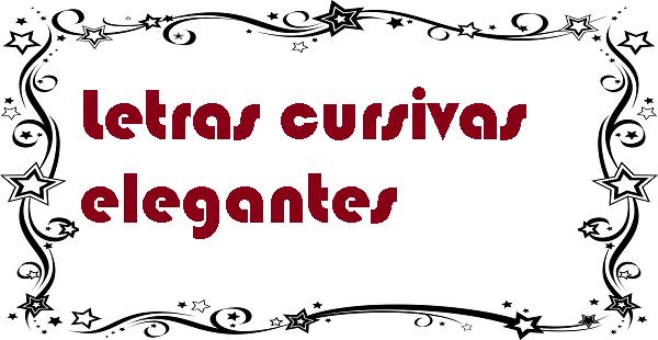 Letras cursivas elegantes
