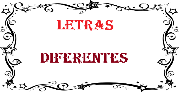 Letras Diferentes letrasdiferentes.com.br
