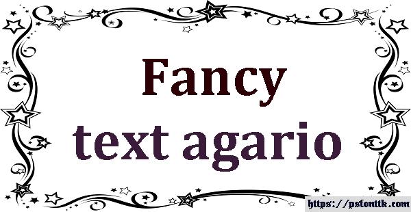 Fancy text agario