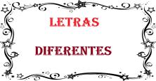 Letras Diferentes