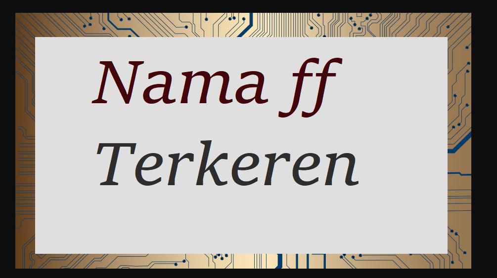 Nama ff Terkeren