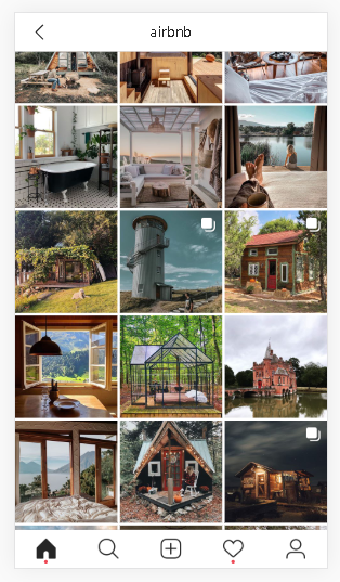 Airbnb opens the door to interesting homes and experiences instagram