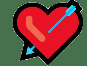 Emoji De Coração coração com flecha PNG