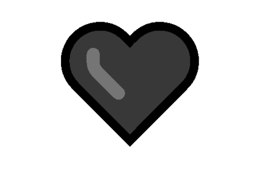 Black Heart Copy and Paste