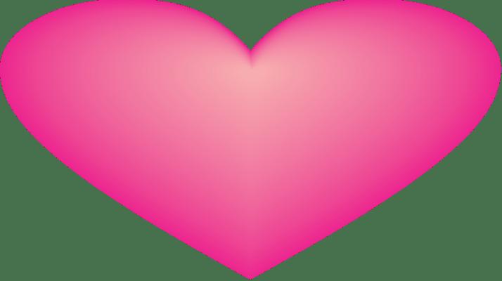 coração rosa png