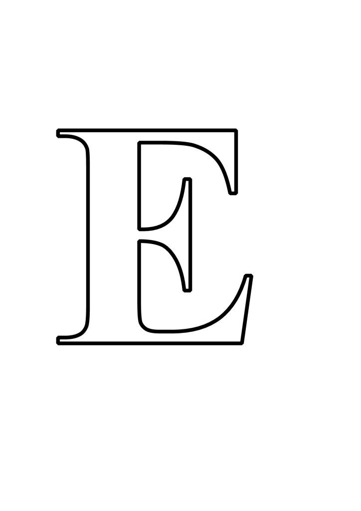 Letras E Para Imprimir