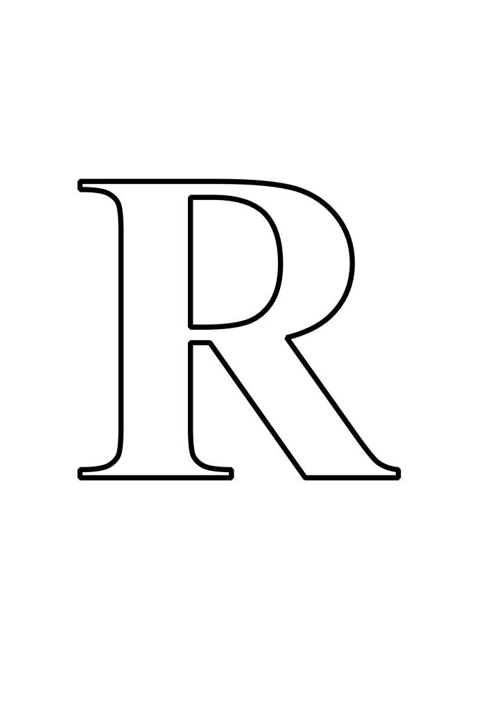 Letras R Para Imprimir
