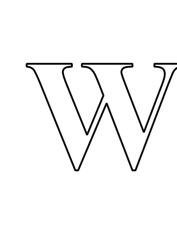 Letras W Para Imprimir