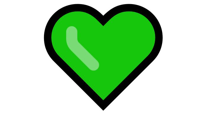 Coração Emoji PNG 💚