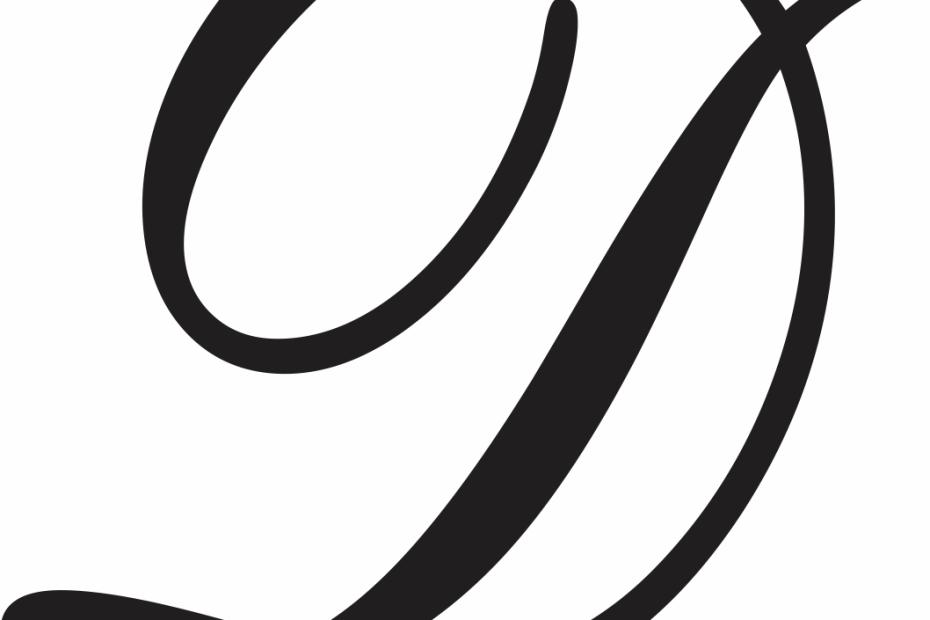 Cursive Letter D