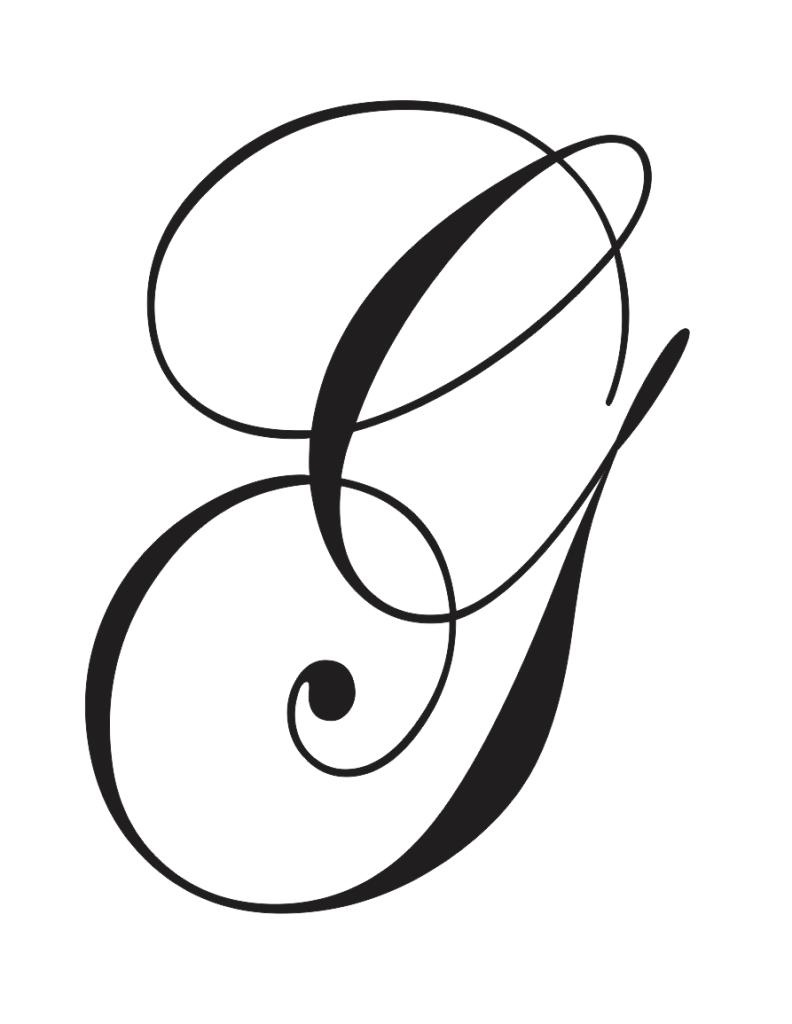 cursive capital g