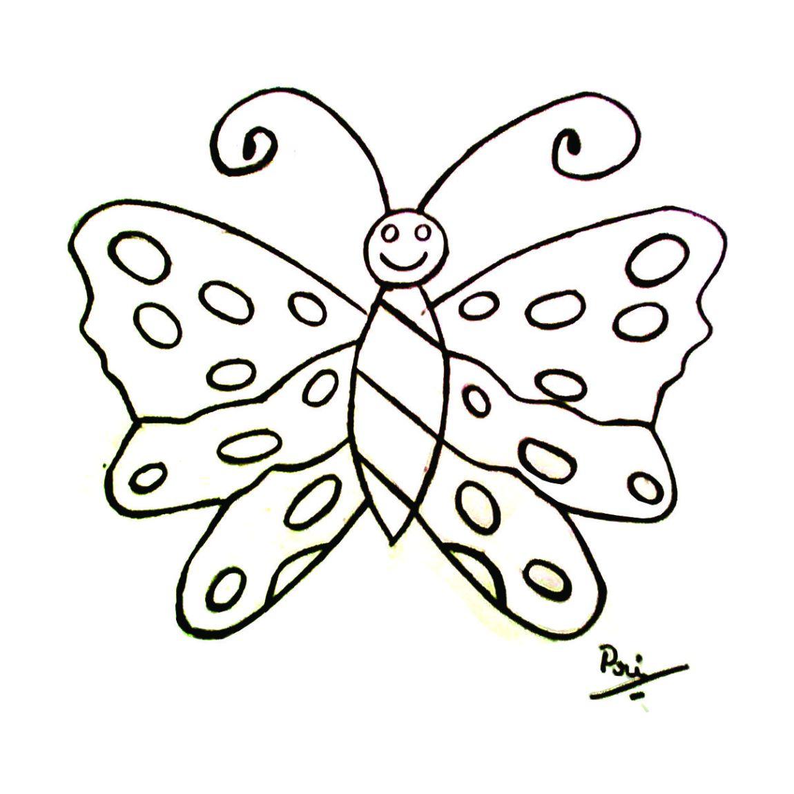 borboleta para colorir