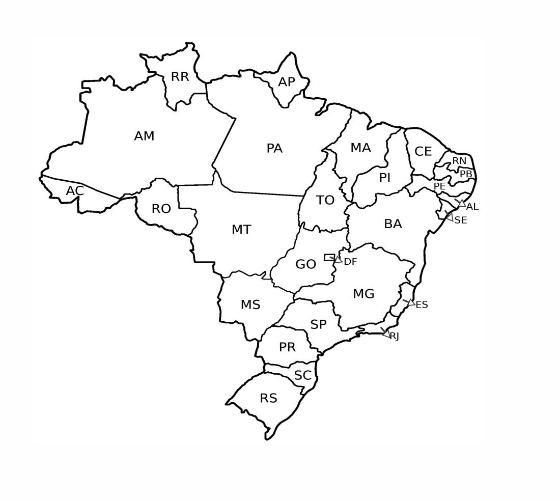 mapa do brasil para colorir