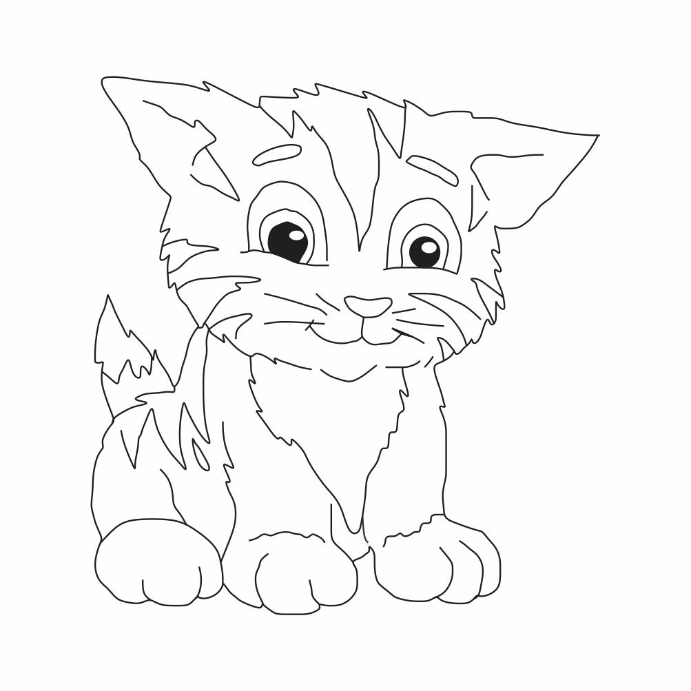 Imagens de Gatos para Colorir, desenho de gato para colorir