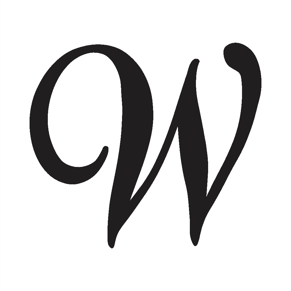 capital w in cursive writing