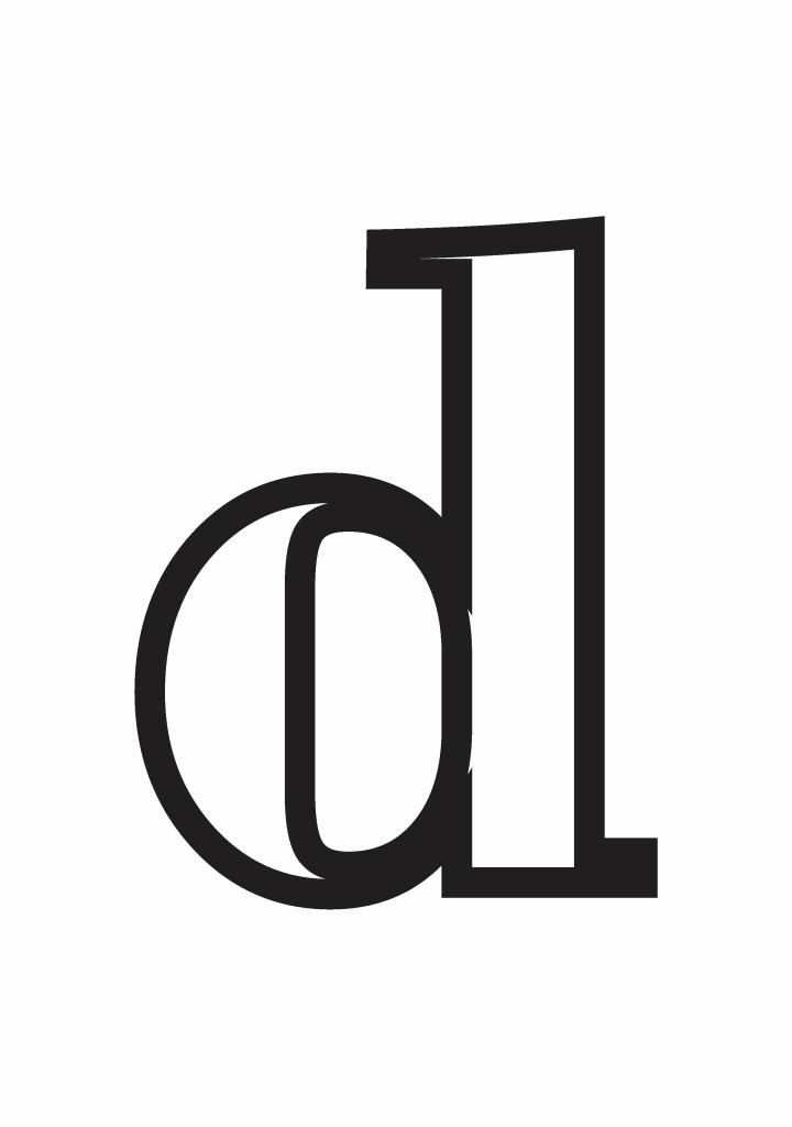 letter d printable, letter d craft template
