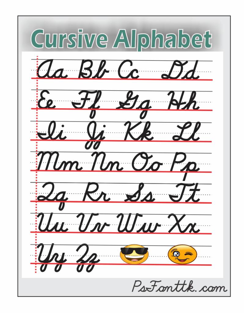 the alphabet of cursive