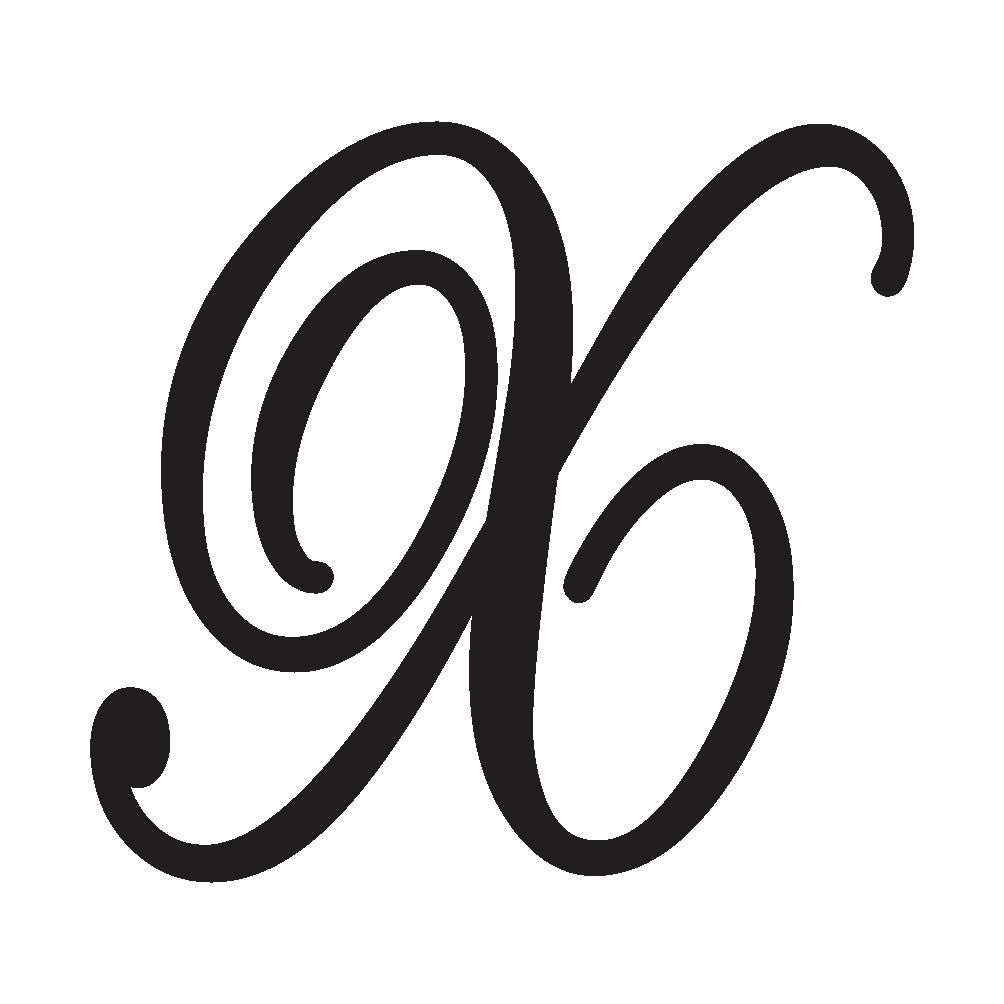 uppercase cursive x