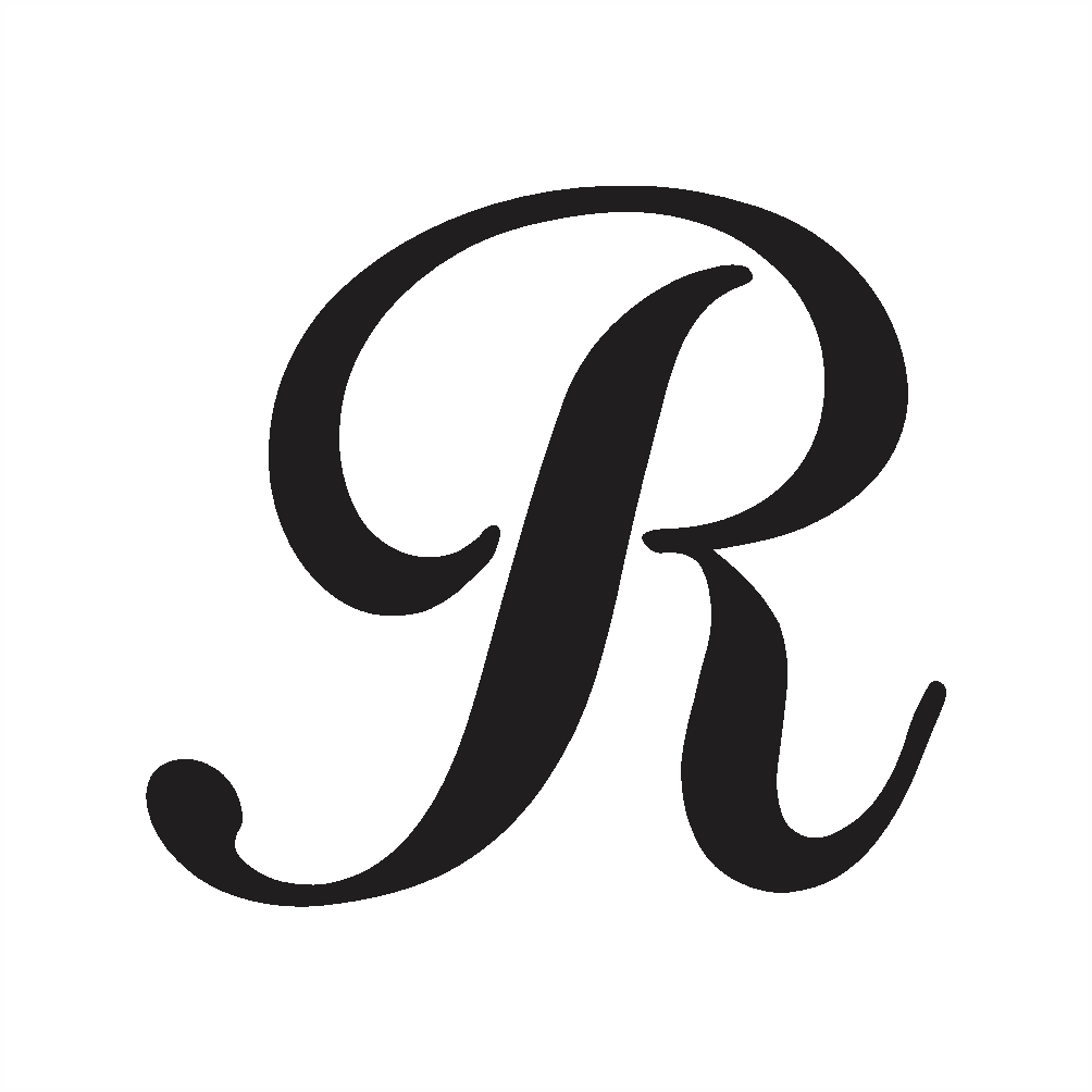 uppercase r in cursive