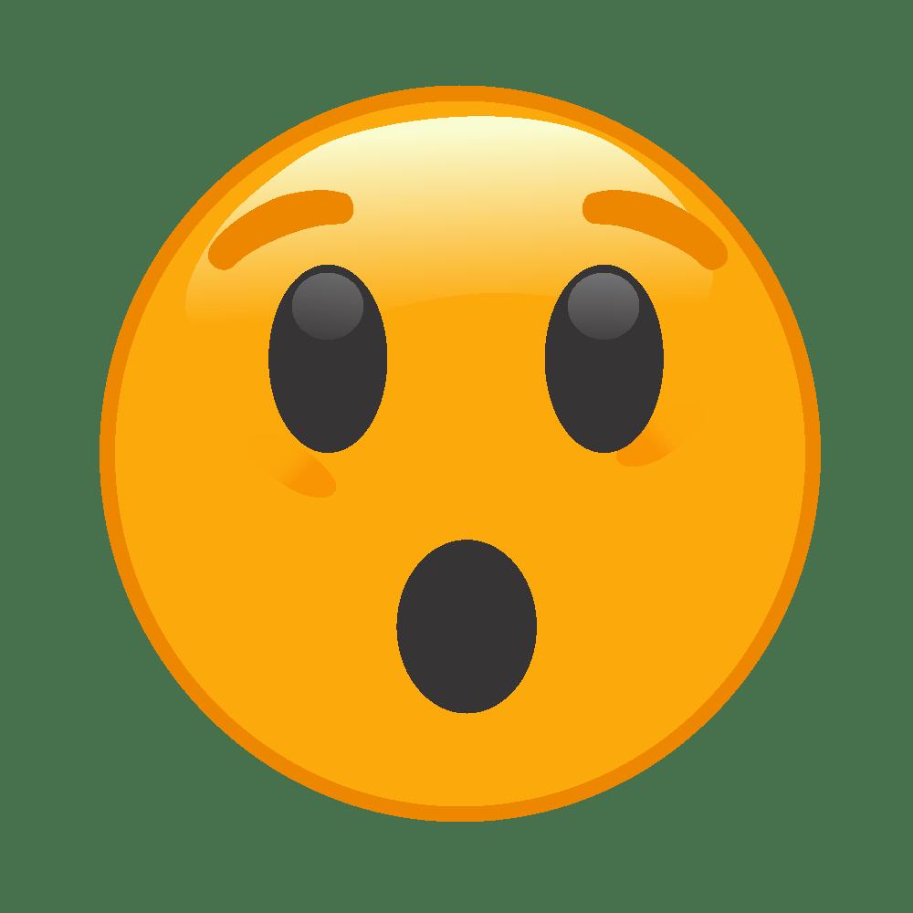 Emoji surpreso PNG 😯 transparente