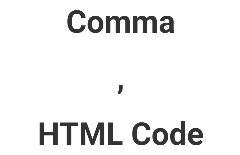 Comma HTML Code