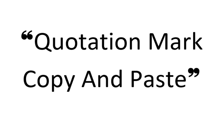 Quotation Mark Copy And Paste