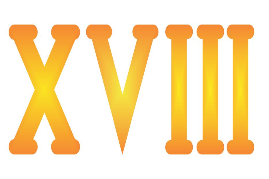 Roman Numeral xviii