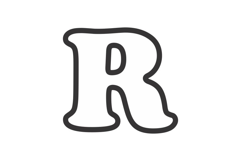 Molde letra R