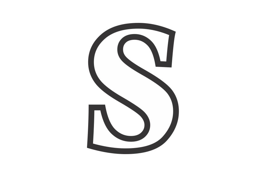 molde de la letra s